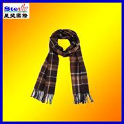 人の冬のマフラーは点検したパターン100%Acrylic、ウールまたはカシミヤ織(ST-SC19)を