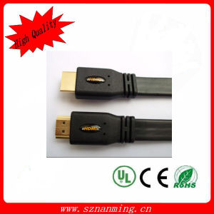 Male Flat HDMI Audio Cable에 24k Gold Plated Male