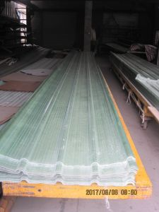 Le PRF de feuilles de toiture en carton ondulé, FRP la lumière du soleil de bord