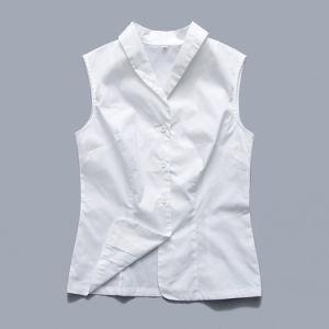 Rótulo personalizado em pequena quantidade de algodão OEM mulheres camisas