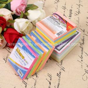 Notes collantes personnalisées par tampon de mémoire collant promotionnel avec le logo fait sur commande