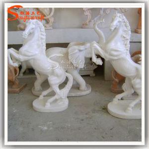 Novo design do Cavalo de fibra de vidro Pedra Escultura Escultura Animal