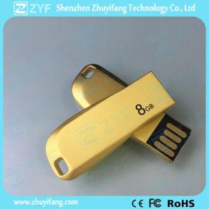 ロゴ(ZYF1752)の金のナイフの形USBのフラッシュ駆動機構