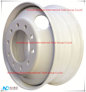 24,5x8.25 Tubeless Rim TBR carretilla rueda de acero con TS16949/ISO9001: 2000