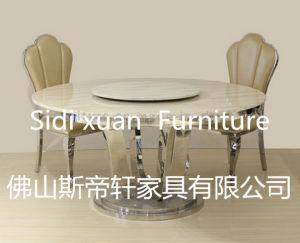 Mesa de jantar em aço inoxidável mesa de jantar moderna mesa de jantar de vidro móveis domésticos