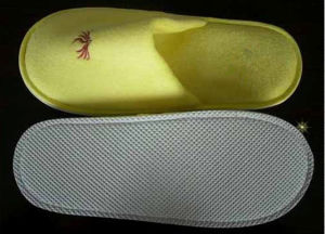Terry pantoufle jaune (GHD013)
