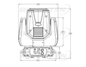 280W小型DJ Sharpyの移動ヘッドビーム段階の発動機