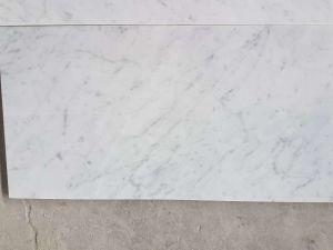 Mattonelle di marmo bianche italiane di bianco carrara per la