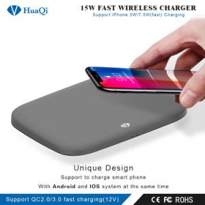 新しく熱い販売15WはiPhoneのための無線可動装置またはセルまたはスマートな電話充満パッドか端末または充電器かSamsungまたはNokiaまたはMotorolaまたはソニーまたはHuawei/Xiaomi絶食する