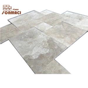 フランス様式の自然なTravertineの石の床タイル