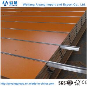 Gekerbter MDF-Vorstand mit Aluminiumprofilen für hängende Produkte im Supermarkt