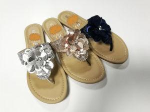 2018 Dernières chaussures sandales femmes Mesdames CHAUSSURES Sandales plates de magasinage en ligne pour la Chine pour l'été d'importation