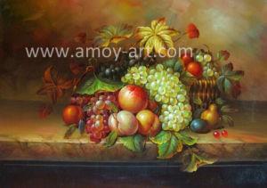 ホーム装飾のためのハンドメイドの古典的なフルーツの油絵