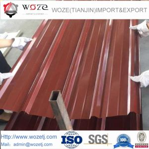 Strato d'acciaio ondulato del tetto di colore professionale di Pressd