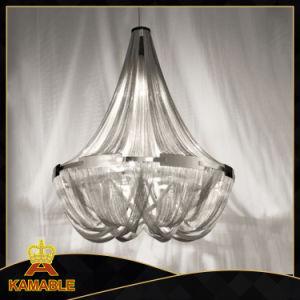 Dekorative silberne Aluminiumhängende Kettenlampe (KA203)