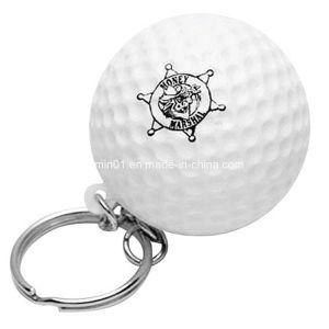 Espuma de PU personalizado com uma bola de golfe para presente de promoção de chaves