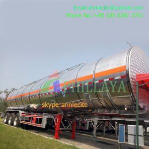 Dei 3 assi di alluminio della lega di Conainer camion del serbatoio del combustibile del rimorchio semi