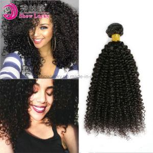 Extension de cheveux humains vierges non transformés en mongol Afro Kinky les cheveux bouclés cuticule complet noir naturel Remy Tissage de cheveux humains