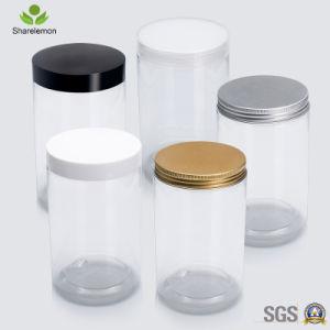 茶パッキングのための800mlペット環境に優しい透過プラスチッククリーム色の瓶
