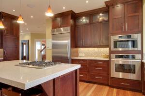 Witte Hoogste Countertop van de Keuken van het Kwarts