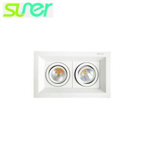 引込められた正方形LED Downlightの穂軸の点ライト2X20W (二重ヘッド)
