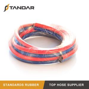 O PVC trançado flexível de alta temperatura do tubo de borracha de soldagem Twin