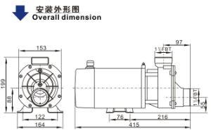 Bañera de la bomba (WDA) con el estándar de mercado de EE.UU.