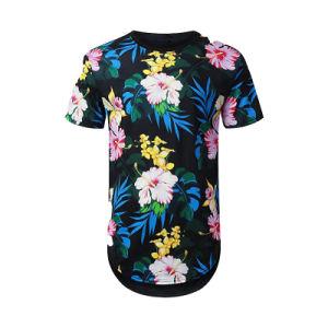 方法メンズ円形の首の運動Tシャツはカーブの最下のティーワイシャツのLycraのスポーツのTシャツの卸売を安く延ばす