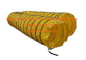 20 X 25 Выходной желтого цвета с покрытием из ПВХ воздуховод отопителя