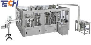 Polpa de frutos de sumo de enchimento de lavagem Encher Capping 4NO1 máquina de enchimento de engarrafamento para enchimento de sumo