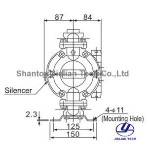 O ar circular Bml-20 da Bomba de diafragma pneumática para impressão Gravure
