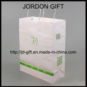 Sacchetto di acquisto personalizzato della carta kraft Di stampa con il codice ed il marchio di Qr