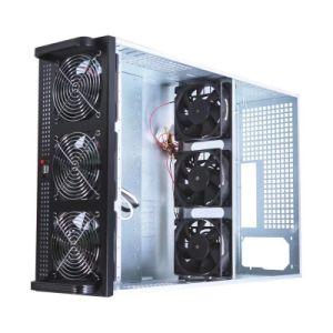 7 Bitcoin GPU Miner Barebone caso de mineração do Sistema
