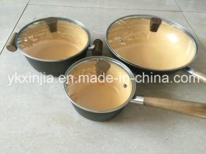 Reeks van Cookware van de Deklaag van het Koolstofstaal van Forgod van het keukengerei 6PCS De Ceramische