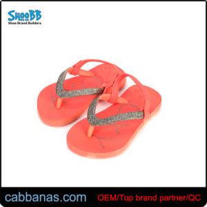 Розовая сладкая красивые Блестящие цветные лаки летней обуви Шлепанцы для девочек детей Дети Детского