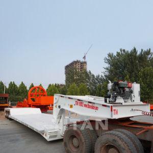 Titaan 3 Gooseneck van het laag-Bed van de As Verlengbare Aanhangwagen Lowboy met de Lage Ontruiming van de Grond