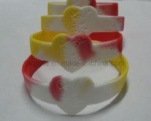 Colors segmentato Bracelet con Debossed Logo