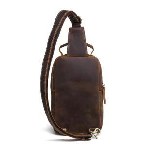 Европейский Vintage поездки из натуральной кожи крупного рогатого скота мини-сумка из натуральной кожи для мужчин Satchel стиль