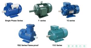 Type de moteur électrique moteur de série Y2 /Yb2 Moteur électrique de série/Yb3 série du moteur électrique antidéflagrant