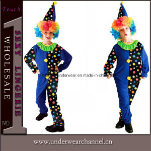 Carnaval fiesta de Halloween Traje de payaso Disfraz de niños Kid (TCQ0056)
