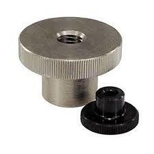 Les écrous moletés en acier inoxydable pouce avec col DIN466