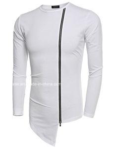 고품질 형식 평상복 긴 소매 남자 t-셔츠