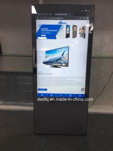 Dedi 55inch Fußboden-stehender Fühler-magischer Spiegel-interaktiver Anzeigen-Spieler-Netz-Media-Video-PlayerHD Digital Signage LCD, der Bildschirmanzeige bekanntmacht