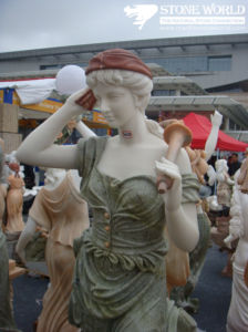 Beeldhouwwerk van de Engel van Carrara het Witte Marmeren voor Tuin/het Beeldhouwwerk van de Figuur Statue/Figure