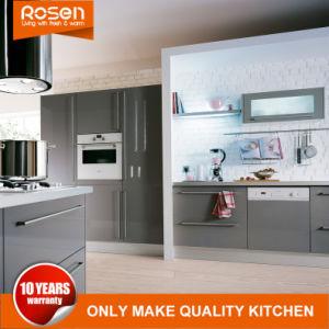 Mobilia verniciata grigia degli armadi da cucina della lacca di nuovo stile moderno