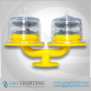 二重ヘッド低強度の太陽電池式の航空ライト、航空Obstaction太陽ライト