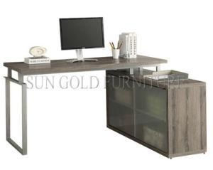 Mobilier moderne en bois bureau informatique avec porte en verre