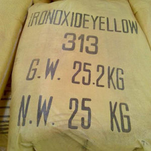 Pigmento inorgánico en polvo de óxido de hierro amarillo 311/313/para la construcción de ladrillos de cemento/