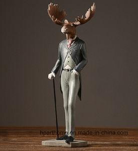 Nouvelle arrivée American Style doux Figurine en résine Statue de la tête d'orignal