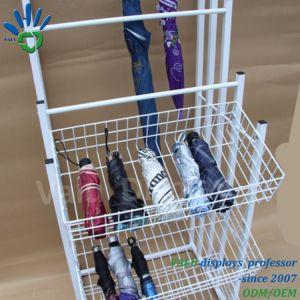 De hete Tribune van het Rek van de Vertoning van de Paraplu van het Metaal van de Verkoop voor Detailhandels/Warenhuizen/Supermarkt